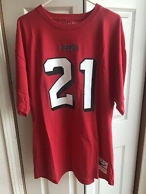 the best attitude f768a 6212f NEW MITCHELL & Ness San Francisco 49ers Deion Sanders Throwback Shirt Size  5XL
