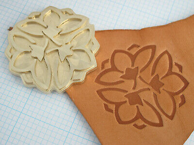 Japanese Lotus Kamon bookbinding Leather finishing stamp Embossing biscuit die