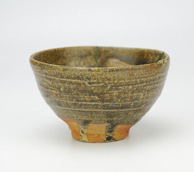 Rare Karatsu Ware Old Karatsu Japanese Pottery Repair Tea Bowl Over 400 Years