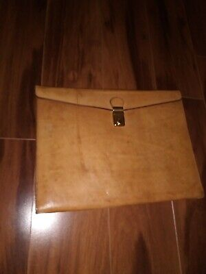 Hartmann Renwick Very Rare Vintage Belting Leather Executive Briefcase Folio NOS