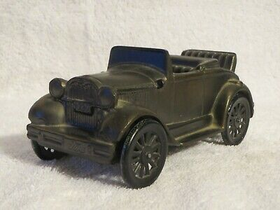 Vintage Bronzed Cast Metal Ford 1929 Convertible Car Bank Banthrico Inc. 6""