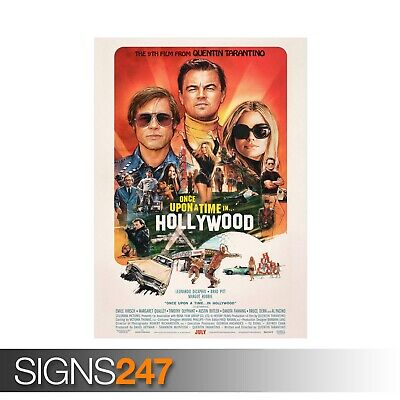 ONCE UPON A TIME IN HOLLYWOOD TARANTINO (ZZ066)  MOVIE POSTER Poster Print