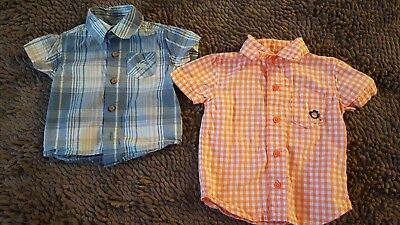 Carter's*Lot Of 2 Baby Boys Button-Down Tops*Size 3-6mos*GUC