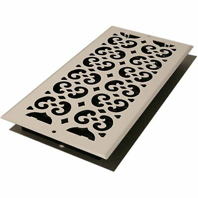 """Decor Grates Scroll Wall/Ceiling Register, Painted White, 6"""" x 14"""""""