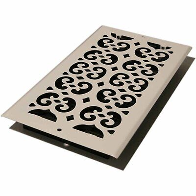 """Decor Grates Scroll Wall/Ceiling Register, Painted White, 6"""" x 12"""""""