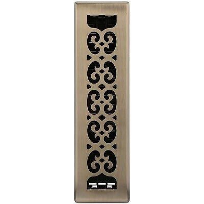 Decor Grates® Scroll Steel Plated Antique Wall/Ceiling Register