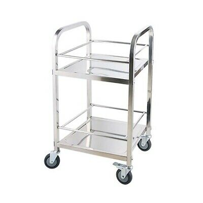 SOGA Commercial Kitchen Stainless Steel Drink Wine Food Utility Cart 2 Tier