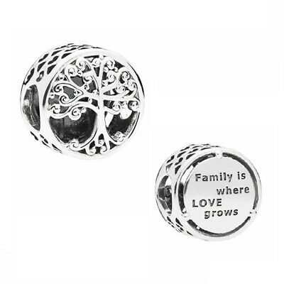S925 Sterling Silver EURO Charm Family Roots Heritage Tree by Pandora's Angels