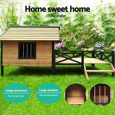 Dog Kennel Kennels Outdoor Wooden Pet House Puppy  Extra Large XXL Outside New