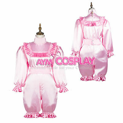 Lockable Satin Romper adult baby Dress CD/TV Tailor-Made
