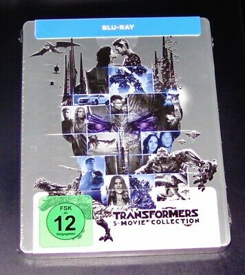 Transformers 1-5 5 Movie Collection Limitée Steelbook Édition Blu Ray Neuf