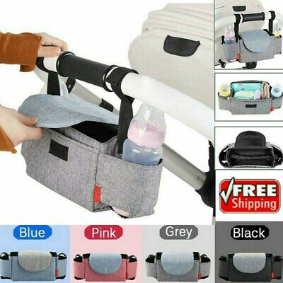 Baby Cup Pram Buggy Storage Stroller Organiser Bottle Holder Mummy Bag NW