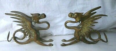 Pair of Brass (or Bronze) Griffins - table decorations