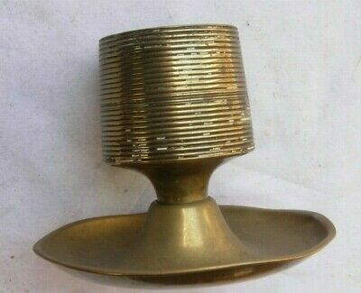 Brass candle holder - antique, for 1.5inch candle - Arts and Crafts?