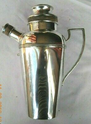 Art Deco Cocktail Shaker Silver plate J D & S EPNS 1 1/2pint Made in England