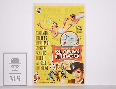Original 1959 The Big Circus Movie Leaflet - Victor Mature,  Red Buttons