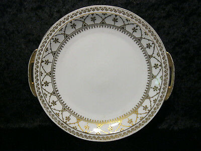 Antique Porcelain Ceremonial Plate/Platter with Gold Uninstall Kor - Historicism