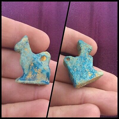Rare ancient Egyptian blue animal amulet, 300 bc