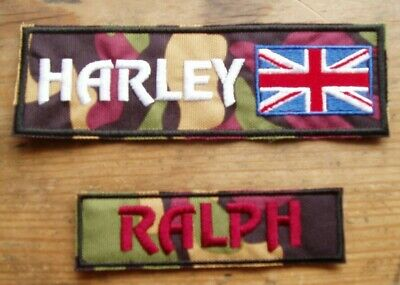 Julius-K9 Embroidered Harness Labels.  **WATERPROOF CAMOUFLAGE FABRIC**