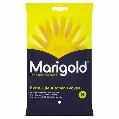 Marigold Extra Life Gloves Cotton Lined Strong Kitchen House Cleaning Hand Wash
