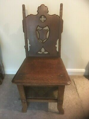 Antique Wooden Metamorphic Arts & Crafts Library Steps / Chair / Victorian c1880
