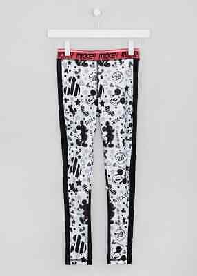 Girls SOULUXE BNWT black Disney Mickey sport leggings  11 12 13 (QE)