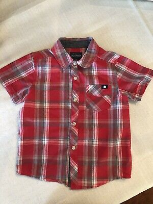 Boy Size 3T Lucky Brand Red PlAid Button Down Shirt