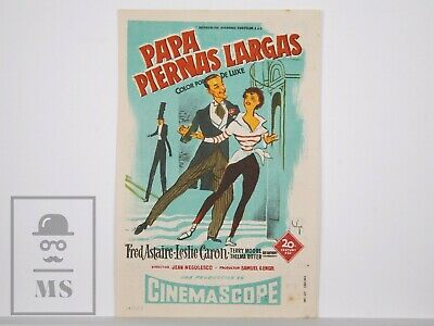 Original 1955 Daddy Long Legs Movie Leaflet - Fred Astaire, Leslie Caron