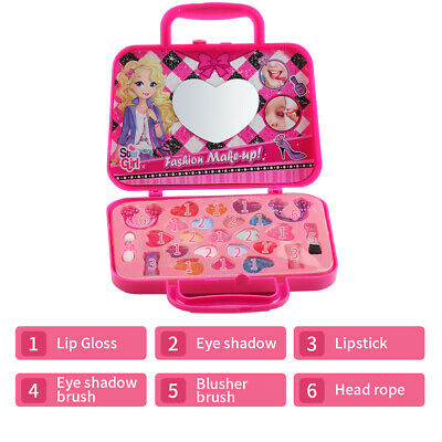 Girls Make Up Set Kids Children Play Vanity Makeup Cosmetics Set Carry Case Gift