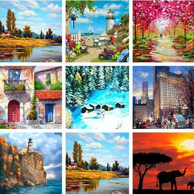 New Scenery image DIY Paint By Number Kit Digital Oil Painting Home Wall Decor