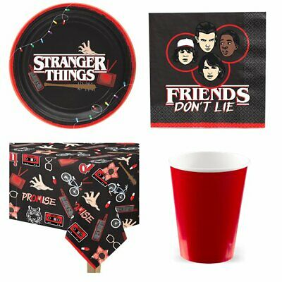 Stranger Things Party Supplies & Tableware -Plates, Tablecover, Napkins, Packs
