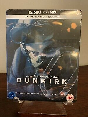 DUNKIRK Limited Edition Steelbook (4K UHD/Blu-Ray) Factory Sealed