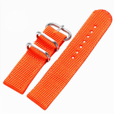 20mm 22mm Canvas Nylon Sports Watch Strap Wrist Band Wristwatch Bands Bangle