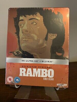 Rambo: First Blood Limited Edition Steelbook (4K UHD/Blu-ray) Factory Sealed