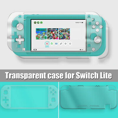 For Nintendo Switch Lite Transparent Hard Protection Case Cover + Tempered Glass