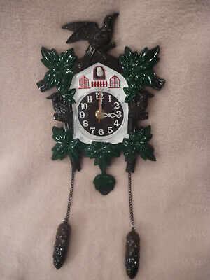 Jobar's Musical Quartz Cuckoo Clock JC980  Man Cave Tested Working  VINTAGE