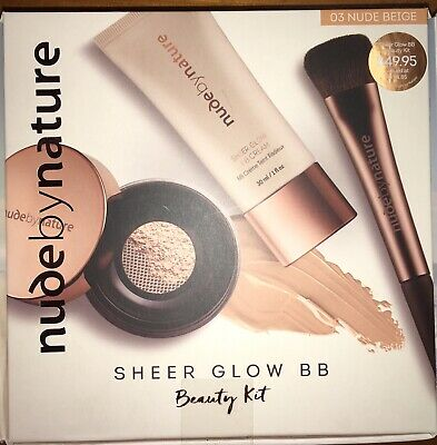 Nude By Nature Sheer Glow BB Beauty Kit in Nude Beige. Brand New