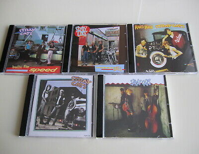 Stray Cats 5CD Set s/t Built For Speed Gonna Ball Rant N' Rave With Rock Therapy