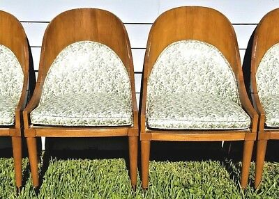 (4) Vtg Mastercraft ? Mid Century Modern Bentwood Spoon Back Dining Chairs