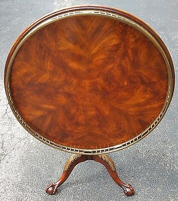 Theodore Alexander Mahogany Tilt Top Tripod Table (ca 1750 George II Replica)