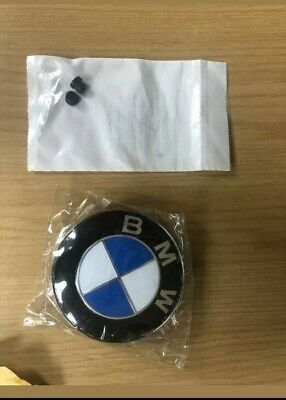 Bmw 82mm Bonnet or Boot Badge Emblem E60 E90 E46 E39 E91 3 5 7 1 X With Grommets