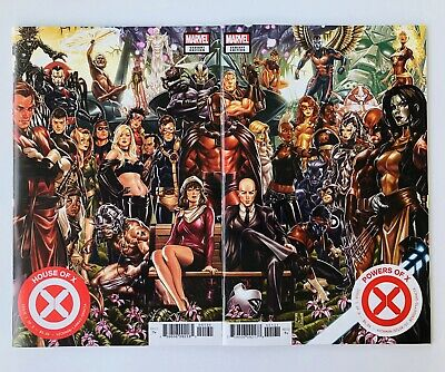 HOUSE OF X 1 POWERS OF X 1 Mark Brooks Connecting Variant Set NM 2019 Hickman