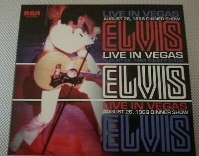 Elvis Presley- 'Live in Vegas'- 26th August 1969 Dinner show *FREE UK POST*