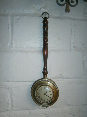 Vintage Smiths Empire Small Brass Bed Warmer Clock