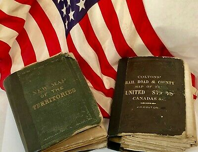 Field & Sickles Lincoln Forgeries on Authentic Historic Pocket Maps cir 1800's!