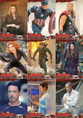 2015 Upper Deck Marvel Avengers Age of Ultron; Complete 90 Card Base Set