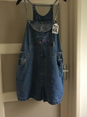 Vintage Winnie The Pooh Shorts Dungarees Large