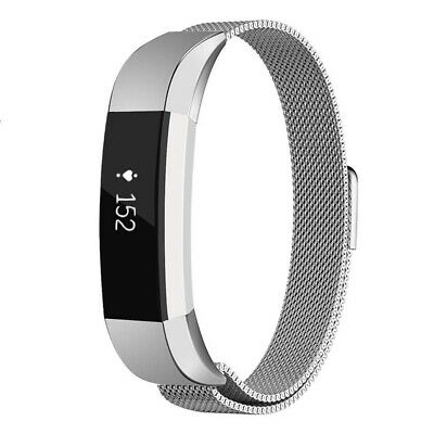 Fitbit Alta / Alta HR Magnetic Milanese Stainless Steel Watch Band Strap Silver