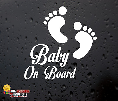 Baby On Board Funny Car Child Kids Window Bumper Sticker Vinyl Decal Safety Sign