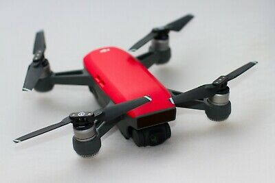 DJISpark Drone Lava Red Fly More Combo boxed with extra battery, hard case